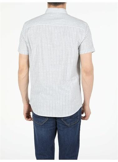 Colin's CL1054711_Q1.V1_GRN Regular Fit Shirt Neck Erkek Kısa Kol Gömlek Yeşil